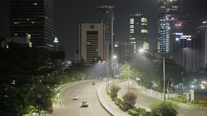 Connected street lighting Jakarta